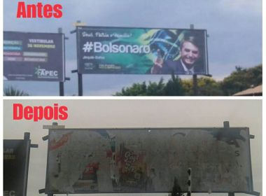 Após retirarem propaganda de Bolsonaro em Jequié, MDCJ rebate: 'Serão colocadas em dobro'