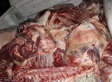 Mais de duas toneladas de carne irregular são apreendidas no interior da Bahia
