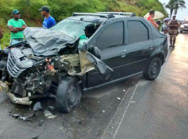 Nazaré: Três jovens morrem em acidente com duas motos e um carro na BA-001