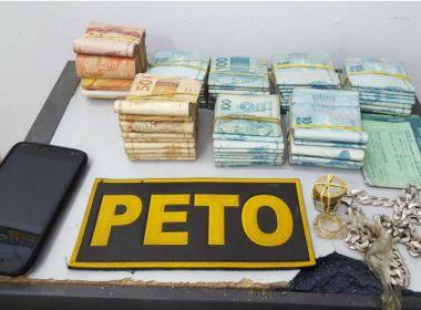 Teixeira: Mototaxista é preso com mais de R$ 74 mil após ser flagrado ao receber pacote