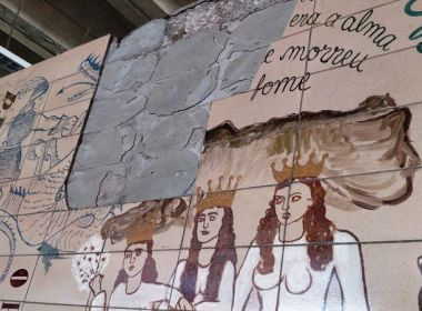 Feira: secretaria de Cultura do município cobra restauração de painel Lênio Braga