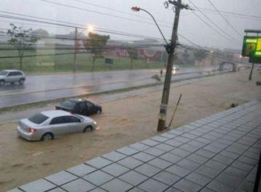 Vitória da Conquista: Carros são arrastados e árvores caem por conta da chuva