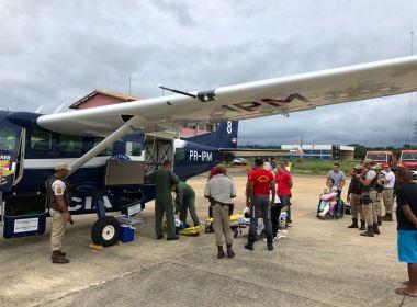 Policiais vítimas de acidente em rodovia na Chapada vem de avião para Salvador