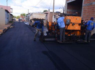 Carnaval não interrompe obras nas ruas de Barreiras