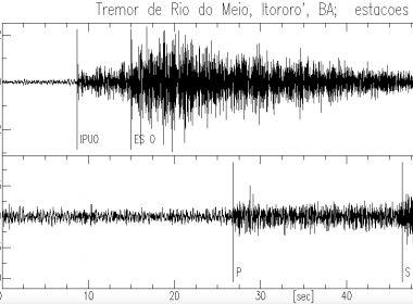 Itororó: Centro de Sismologia confirma tremor de 1.4 na região do Rio do Meio