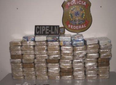 Operação apreende carga de cocaína avaliada em mais de R$ 1 milhão