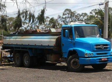 Senhor do Bonfim: Polícia apreende caminhão pipa adulterado