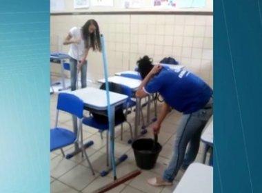 Oeste: Estudantes limpam e lavam salas por conta de greve de servidores