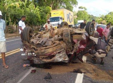 Ubaitaba: Acidente provoca morte de 4 em colisão de carros na BR-101