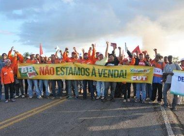 Entre Rios: Petroleiros fecham BR e protestam contra venda de campos da Petrobras