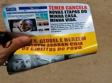 JUSTIÇA DETERMINA BUSCA E APREENSÃO DE PANFLETOS EM SEDE DO PT DE CONQUISTA.