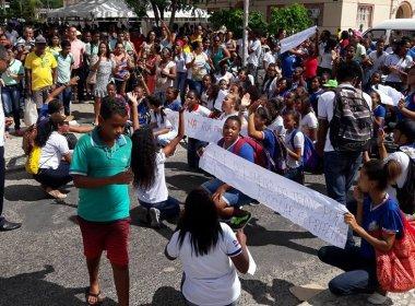 Alagoinhas: Após protesto, prefeito diz que débito com transporte escolar foi resolvido