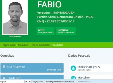 Itapitanga: Vereador é preso por tráfico; acusado 'segurava' cartões do Bolsa Família