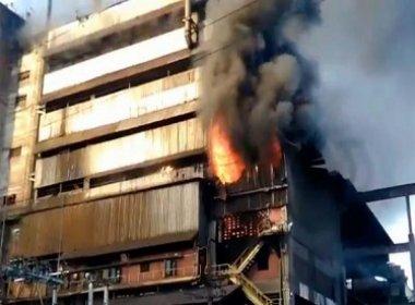 Incêndio atinge sede da mineradora Vale em Simões Filho