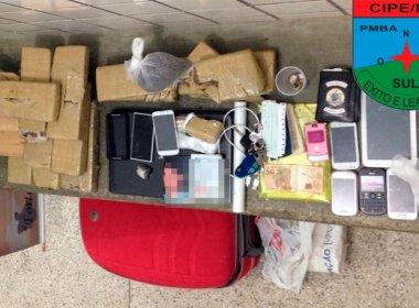 Teixeira de Freitas: Três homens são presos com 15 kg de maconha