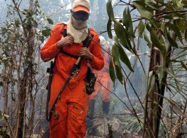 Saúde: Incêndio atinge serra próximo à barragem; ação convoca brigadistas