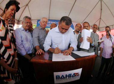Camaçari: Rui assina ordem para duplicação da estrada da Cascalheira