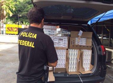 Ilhéus: PF deflagra operação contra contrabando de cigarros e lavagem de dinheiro
