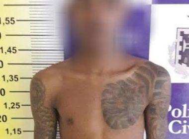 Feira: Suspeito de cometer 10 homicídios é preso ao tentar matar a namorada de 15 anos