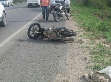 Serrinha: PM morre em acidente com moto na BR-116