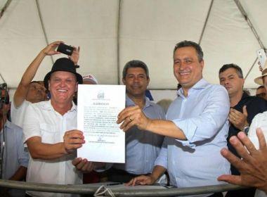 Riachão do Jacuípe: Governador entrega pavimentação de 28 km da BA-120