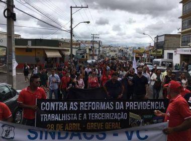 Conquista: Manifestantes vão às ruas contra reforma da previdência e terceirização