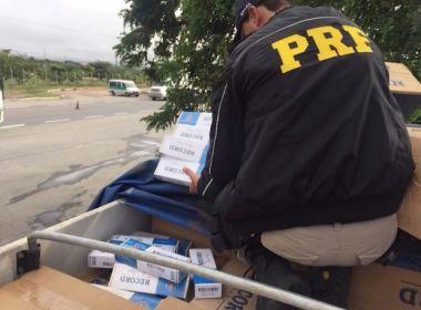 Conquista: PRF apreende 330 mil maços de cigarro contrabandeados do Paraguai