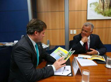 Secretário de Mata de São João se reúne com ministro do Turismo em Brasília