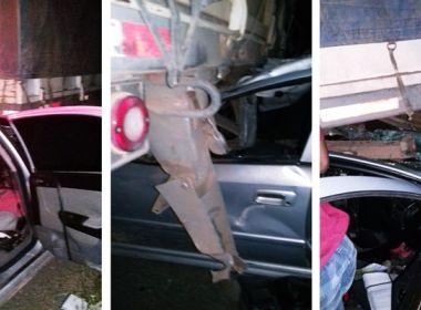 Cristópolis: Motorista de carro morre em acidente com caminhão na BR-242