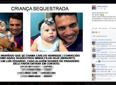 LEM: Pai sequestra bebê e chantageia mãe em troca de foto da criança
