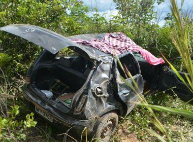 Sem cadeirinha, criança de três anos morre em acidente na BR-242