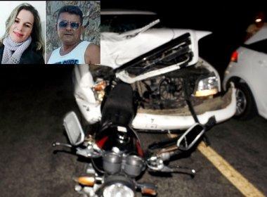 Cansanção: Dois morrem em colisão entre moto e D20 na BA-381