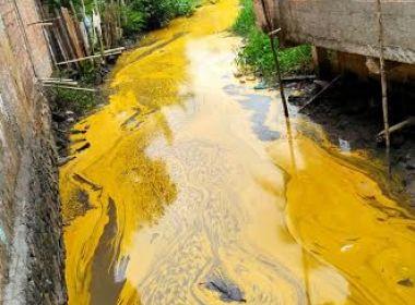 Nazaré: Derramamento de azeite polui rio Jaguaripe; empresa é acusada