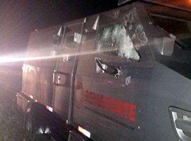 Conceição da Feira: Carro-forte é alvejado em tentativa de assalto