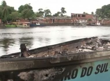 Ilhéus: Barco pega fogo com 6 pescadores a bordo; 2 têm metade de corpo queimado
