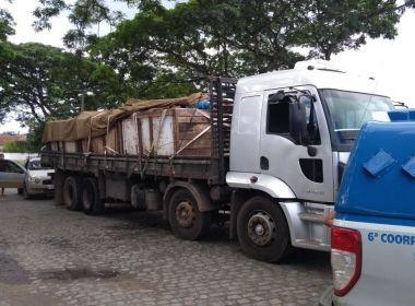 Itabuna: Polícia flagra 55 kg de cocaína em caminhão que transportava sucata