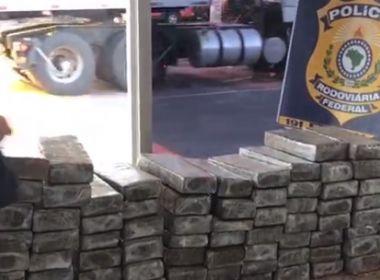 Conquista: PRF prende traficante com 100 kg de maconha; carro de acusado era roubado