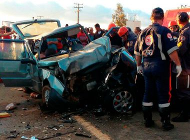 Conquista: Casal de idosos morre e quatro ficam feridos em acidente na BR-116
