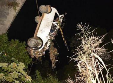 Itajuípe: Dois morrem após carro cair de ponte na BR-101