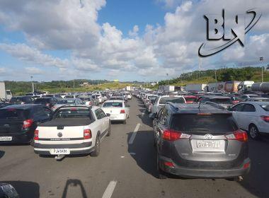 Principais rodovias baianas registram lentidão no trânsito durante volta do São João