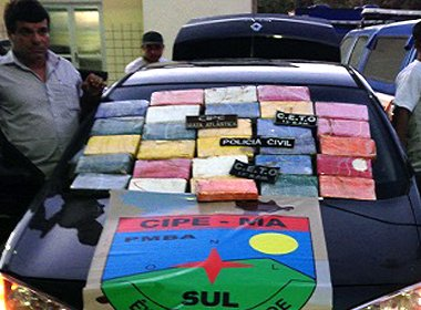 Operação apreende 30 kg de pasta base de cocaína que seguiam para Porto Seguro