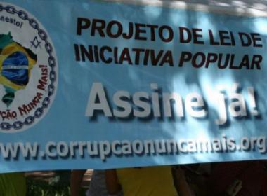Maçonaria quer 1,5 milhão de assinaturas para garantir projeto contra corrupção