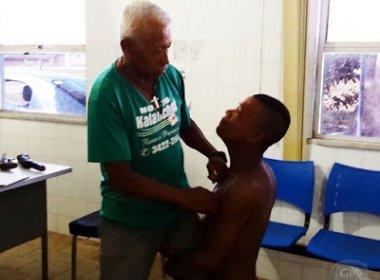 Ipiaú: Após bater no pai, jovem é preso e chora ao pedir perdão