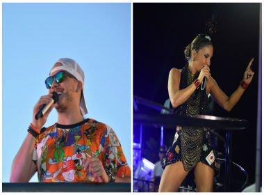 Wesley Safadão e Claudia Leitte são destaques nesta terça-feira de Carnaval