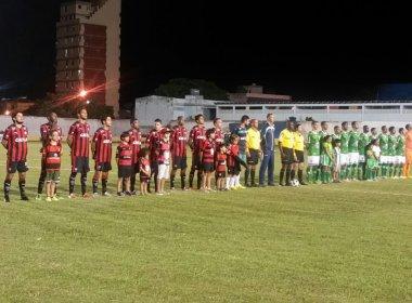 Com gols de Tatu e Marinho, Conquista e Vitória empatam no Mário Pessoa