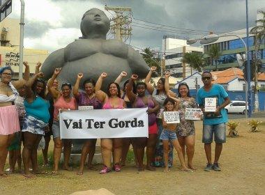 'Vai ter gorda na praia' realiza ato em defesa de 'gordinhos e gordinhas' em Salvador