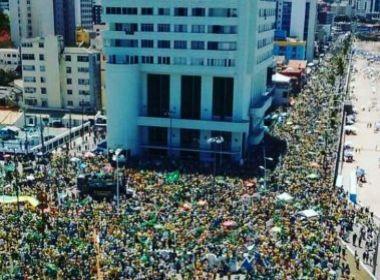 Confira imagens do protesto contra o governo em Salvador