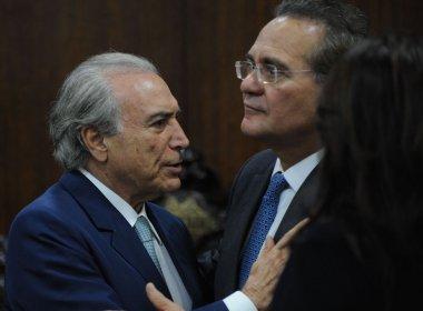 Temer e Calheiros fecham acordo sobre votação do PMDB em provável saída do governo