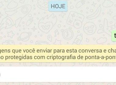 WhatsApp reforça segurança com criptografia no aplicativo