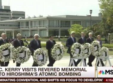 Americano John Kerry visita Memorial da Paz de Hiroshima
